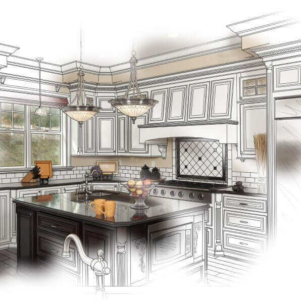 Kitchen remodels from initial concept, to design and completion complete with new stainless appliances